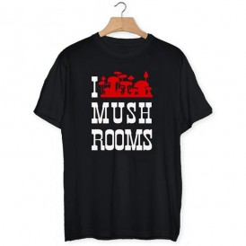Camiseta I love mushrooms