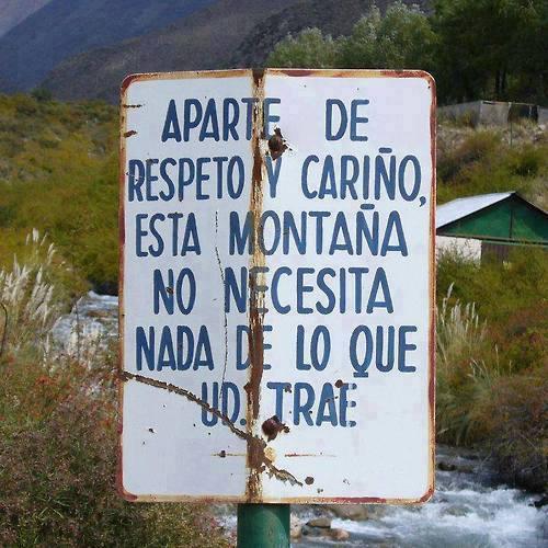 respeta el monte