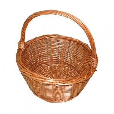 cesta de mimbre redonda