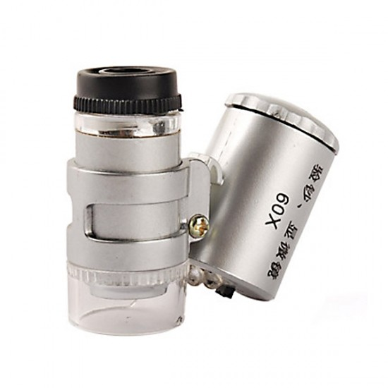 60x mini microscope with 2 LED illumination