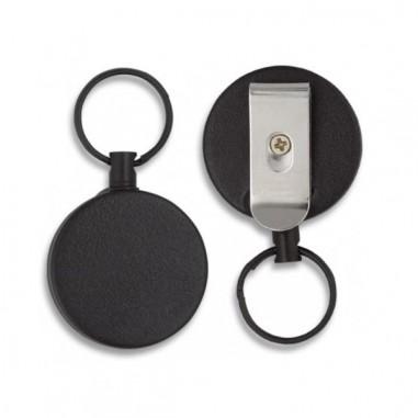 black extendable key ring. 70 cm