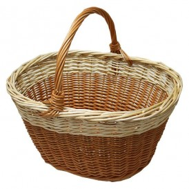 Bicolor mushroom basket