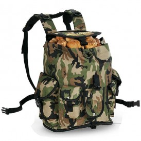 Mushroom backpack with camouflage pockets