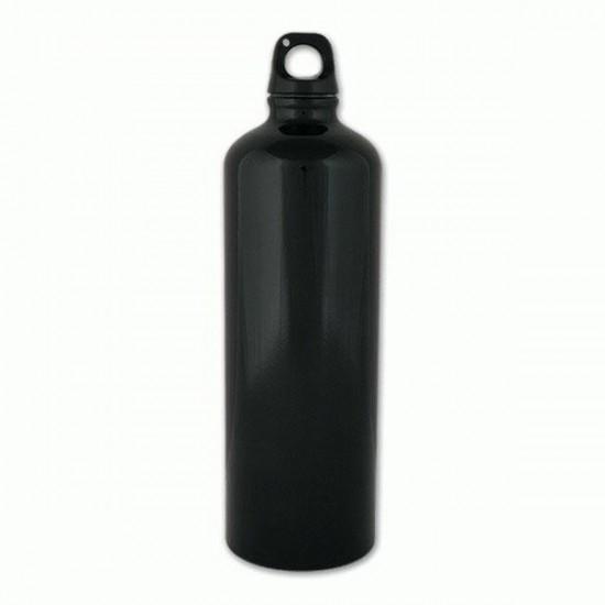 Botella de aluminio 1 l. Negro