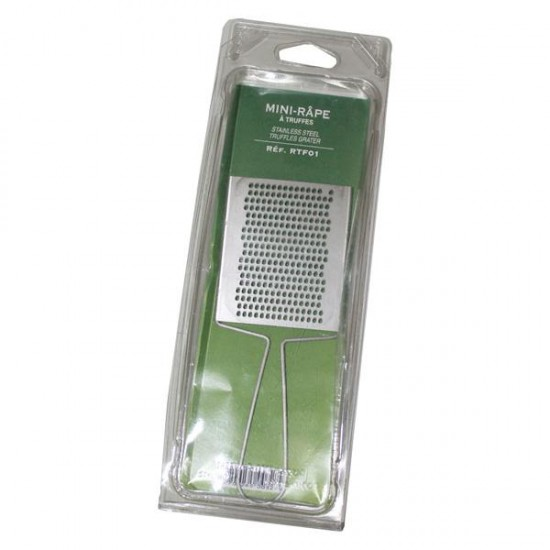 Stainless steel truffle grater