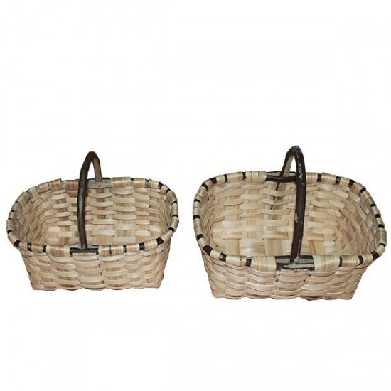 Natural chestnut Labrador basket No. 2