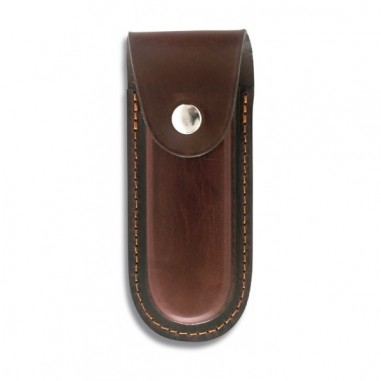 Brown leather case 13,5x6