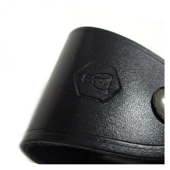 Black Laguiole leather case