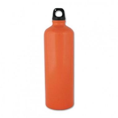 Botella de aluminio 1 l. Naranja