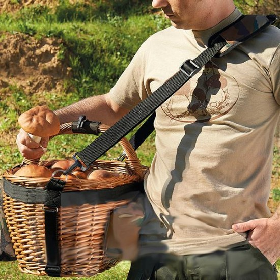 Shoulder strap for basket + hitch