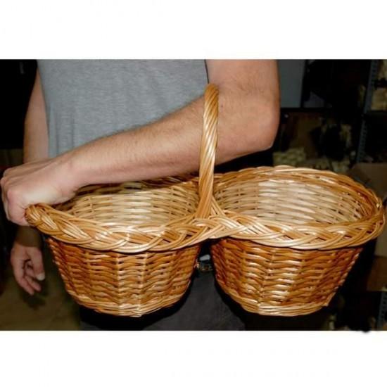 Double Wicker Basket mod. Carlares