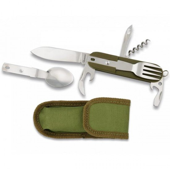 Multipurpose camping knife with sheath
