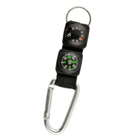 Carabiner compass thermometer carabiner
