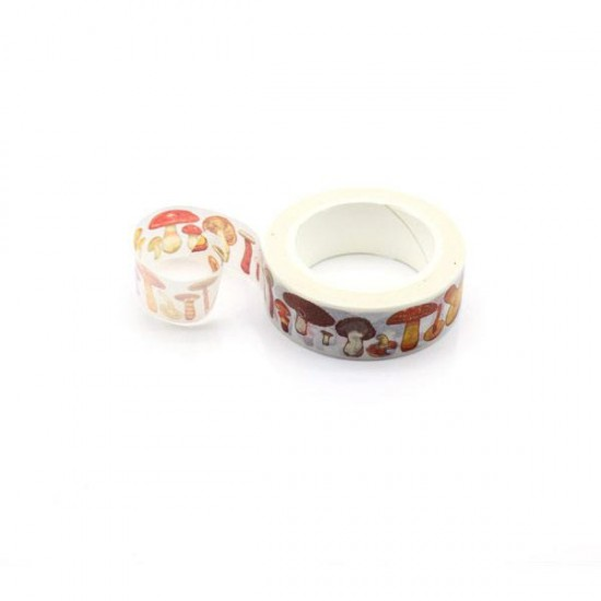 Adhesive tape decorated with mushrooms