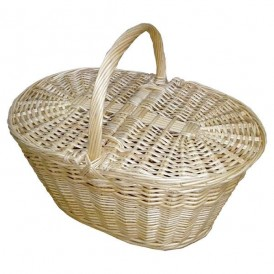 Large niscalera basket with natural wicker lids