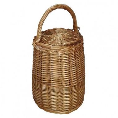 Wicker snail basket with lid