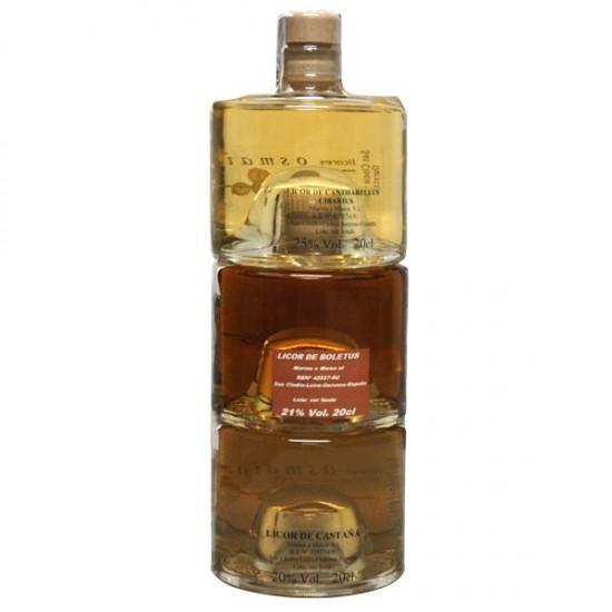 Botella apilable licores de otoño