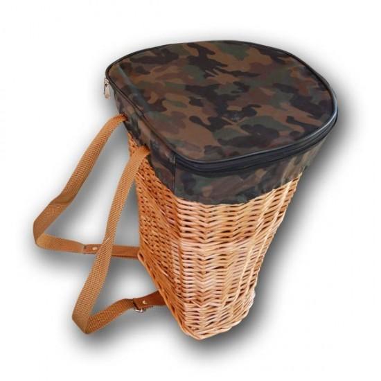 cesta mochila de mimbre