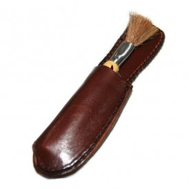 Handcrafted brown leather case