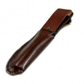 Funda de piel marrón artesana