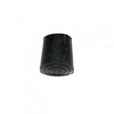 Punta bastón goma redonda 22mm