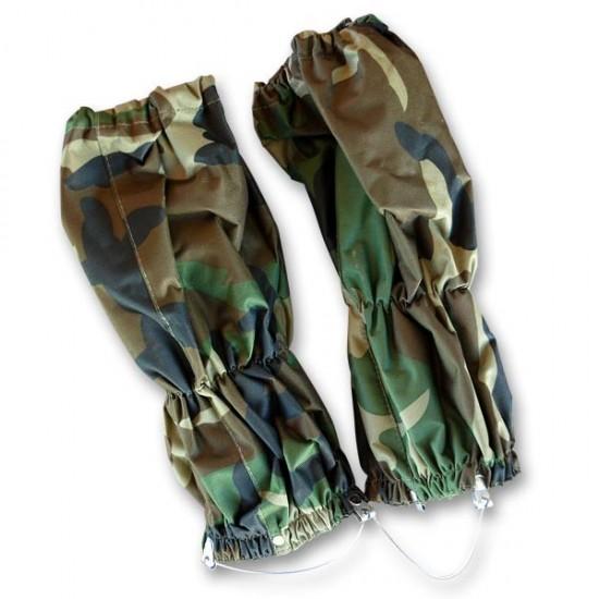 Polaina de nylon con cremallera color camuflaje
