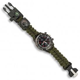 Reloj táctico de supervivencia verde