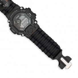 Reloj digital de supervivencia negro