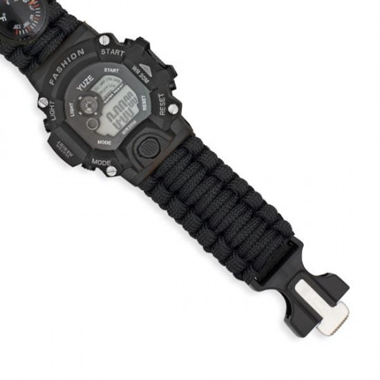 Reloj digital de supervivencia negro