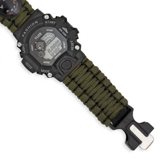 Green digital survival watch