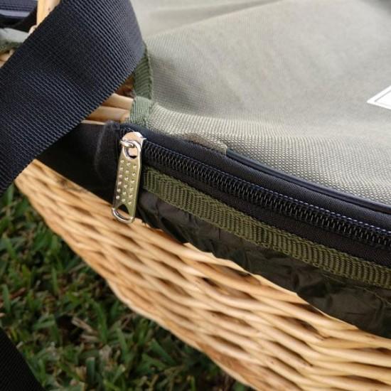 Green adjustable lid - medium basket