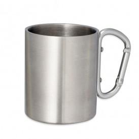 Vaso metálico con mosquetón