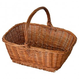 Rectangular wicker basket 01