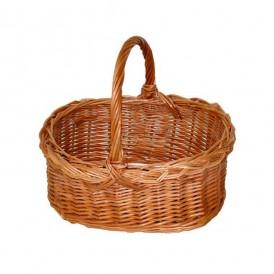 cesta pequeña de mimbre