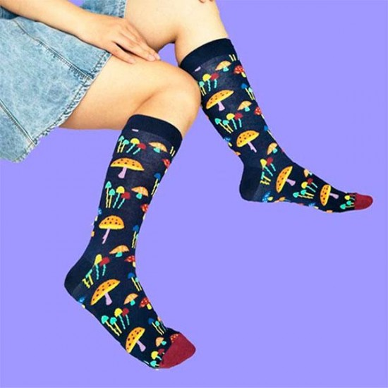 Calcetines estampados con setas