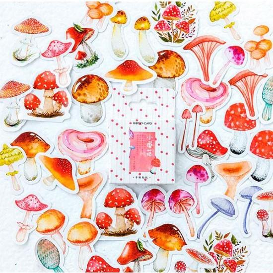 Adhesive mushrooms decoration