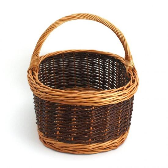 Cesta de mimbre negro 01 La Casa de las Setas Comprar cesta de mimbre