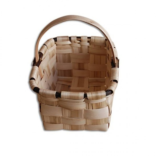 Small chestnut mushroom basket (domestic manufacture)