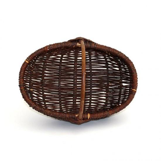 wicker basket bowl