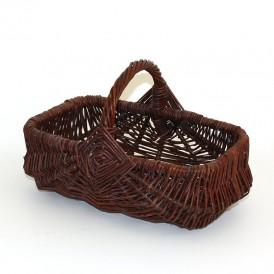 green rectangular wicker basket