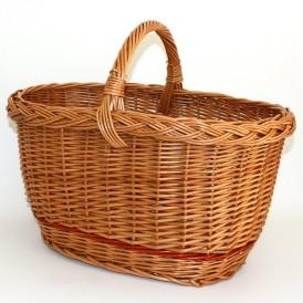 large oval wicker basket