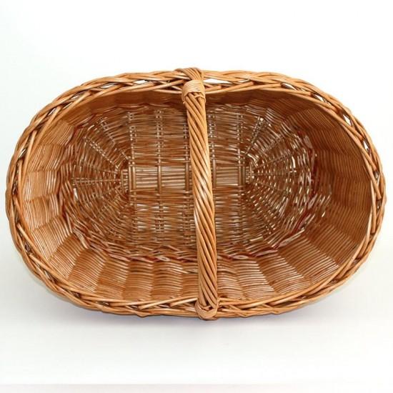 cesta mimbre ovalada grande
