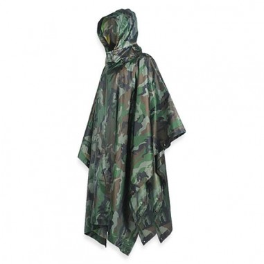 Camouflage waterproof poncho 830