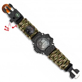 Reloj digital de supervivencia camuflaje