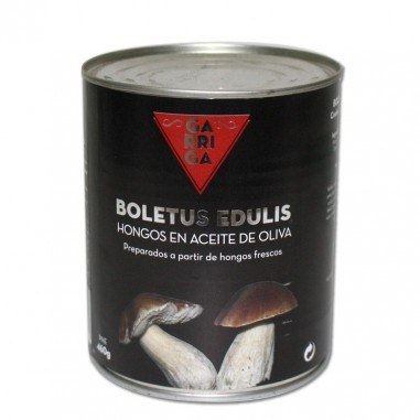 Boletus edulis in olive oil, can 485 gr.