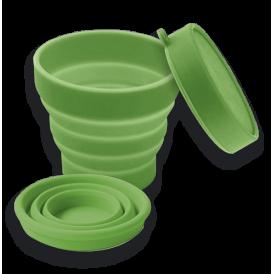 Vaso plegable de silicona
