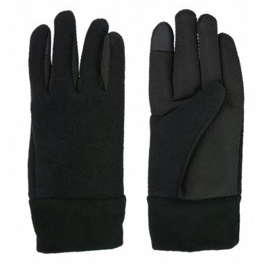 Black rubber fleece-lined gloves