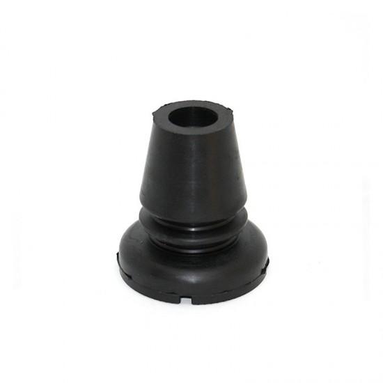Safety rubber baton tip