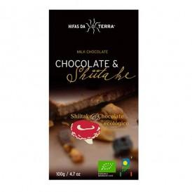 Chocolate con leche de arroz y shiitake caramelizado