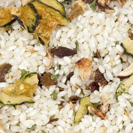 Boletus and zucchini risotto